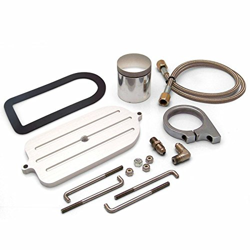 Helix 14677 Billet Remote Brake Reservoir Kit with Tank for Big Ford Master Cylinder