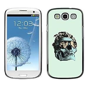 MobileHut / Samsung Galaxy S3 I9300 / Cool Green Miami Skull Death Metal / Delgado Negro Plástico caso cubierta Shell Armor Funda Case Cover