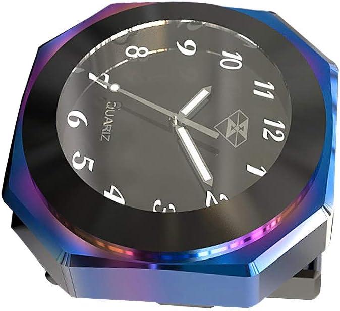 Moto Horloge Moto Guidon Mont Cool Style Noctilucent Montre Cadran /à Quartz Horloge Moto Lumineux Alliage Horloge Jauge Temps Horloge /Étanche. Argent Horloge de Moto