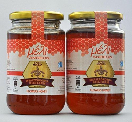 Costakis miel griega de tomillo silvestre. Tarro de cristal de 450 gr (Pack de
