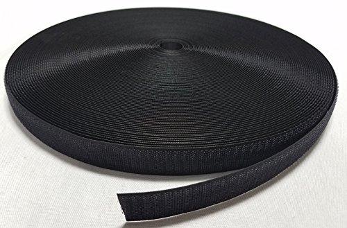 1'' BLACK SEW-ON HOOK and LOOP FASTENER - HOOK SIDE ONLY - 50 YARDS by Ameratex