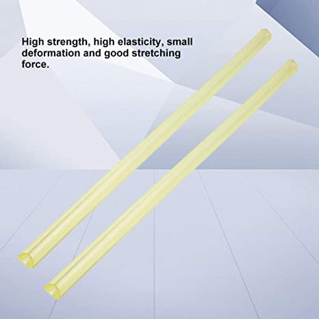 Polyurethane Hollow Rod Round Hollow PU Rod High Elastic Mold Material for Various Mechanical Shock Absorption Cushioning Yellow #1