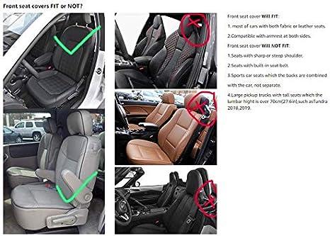 Black-White EverFabulous Auto Car Seat Covers 5 Seats Full Set Universal Fit