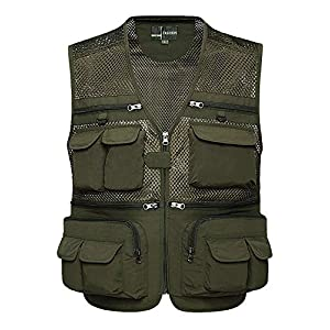Z&A Mens Summer Casual Outdoor Work Safari Fishing Travel Photo Vest with Pockets