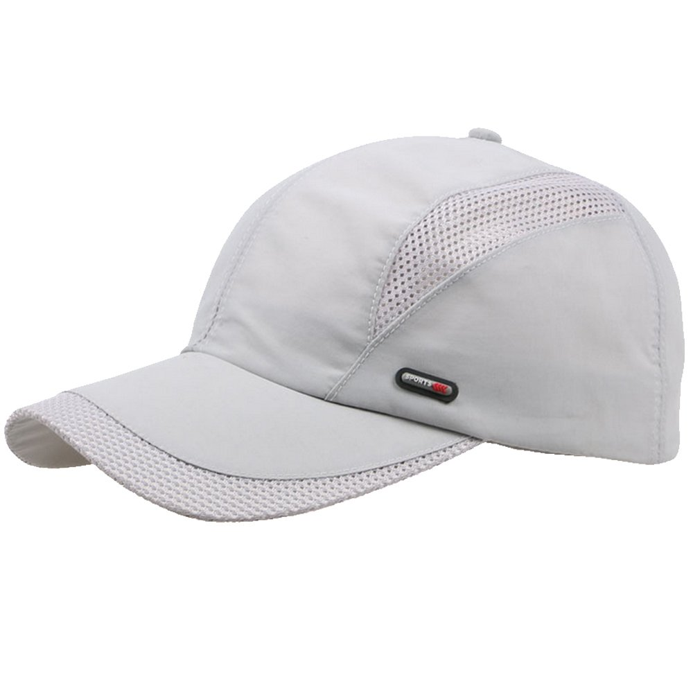 Unisex Summer Outdoor Sport Breathable Quick Dry Baseball Caps Solid Adjustable Hat Gray Gosear TRTAZ11A