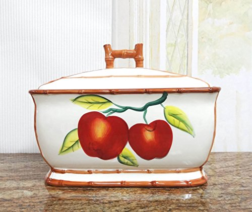 Tuscany Apple Bread Box