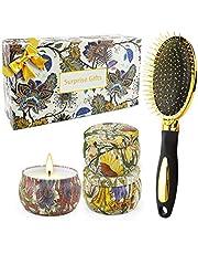 TOFU Geurkaarsen Gift Set Aromatische Kaars, Draagbare Tin Gift Set van 4 Pack, 6 oz, 120 branduren, natuurlijke soja Wax met essentiële oliën kaars cadeau voor vrouwen