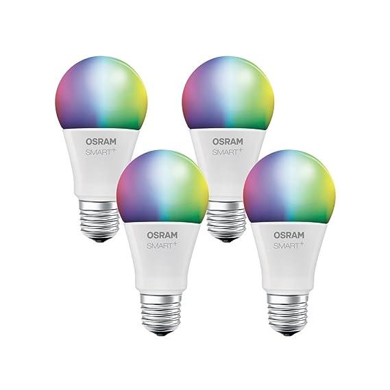 Osram 4058075816565 Set de 4 smart + bombillas, plástico, E27, 10 W, color blanco: Amazon.es: Iluminación