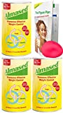 Almased Meal Replacement Shakes -Plant Based Protein Powder - Weight Management Shake and Meal Replacement - All Natural, Gluten Free, No Sugar Added (3 pack Bonus Diet Book and Stress Ball)