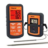 ThermoPro TP-08 Wireless Remote Digital Cooking Meat Thermometer Dual Probe for Grilling Smoker BBQ Food Thermometer – Monitors Food from 300 Feet Away