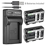Kastar Battery X2 & Slim USB Charger for Sony NP-FM500H Sony Alpha SLT A58 A57 A65 A77 A99 A77V A77II DSLR-A100 A200 A300 A350 A450 A500 A550 A700 A850 A900 Alpha a99 II DSLR a100 a560 a580 a58 a77II