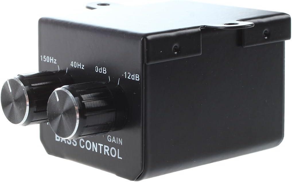Amplificateur RCA pour la voiture et la maison Niveau de gain bouton de Volume Booster Audio stereo contole de Basse R SODIAL Regulateur de Volume