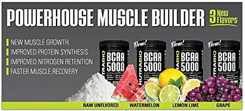 NutraBio BCAA 5000 Powder Lemon Lime