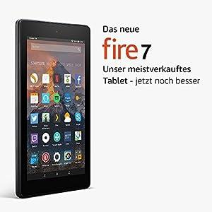 Das neue Fire 7-Tablet mit Alexa, 17,7 cm (7 Zoll) Display, 8 GB (Schwarz), mit Spezialangeboten