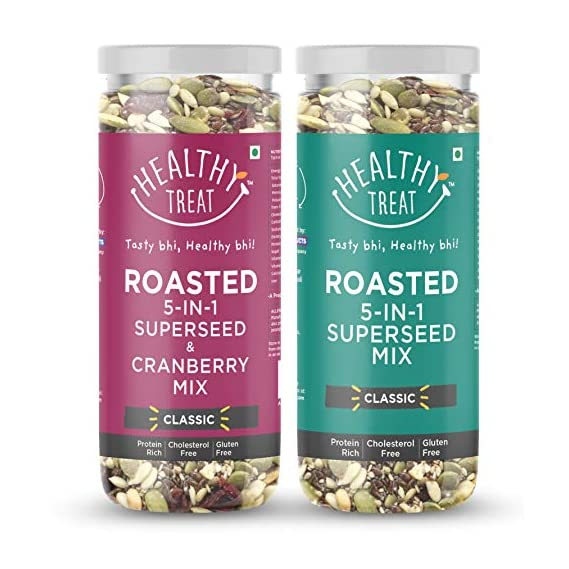 Healthy Treat Super Combo Pack (5 in 1 Superseed Mix with Cranberry and 5 in 1 Superseed Mix) 300 gm | Immunity Booster