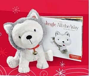Hallmark Christmas Jingle the Husky Pup Interactive Storybook and Story Buddy