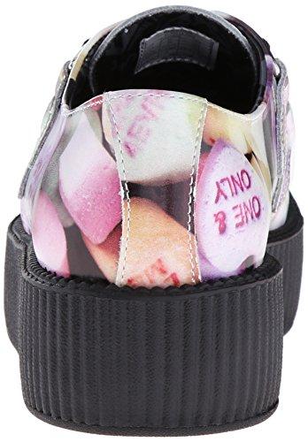 T.U.K. Womens Candy hearts Print Creeper Oxford Multi J2OBFErf1