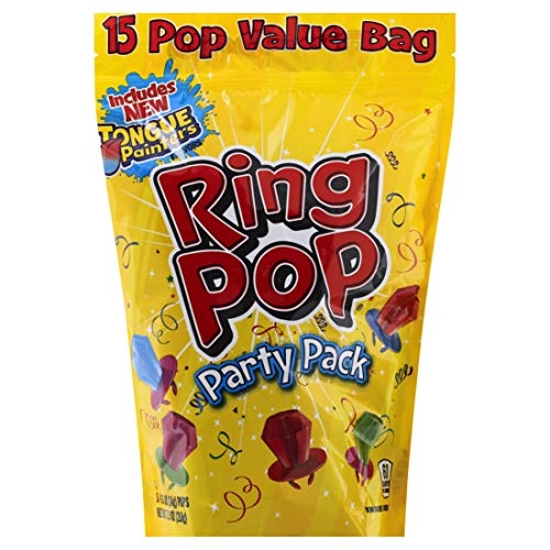 Ring Pop Individually Wrapped Bulk Variety Party Pack - 15Count Candy Lollipop Suckers w/ Assorted Flavors
