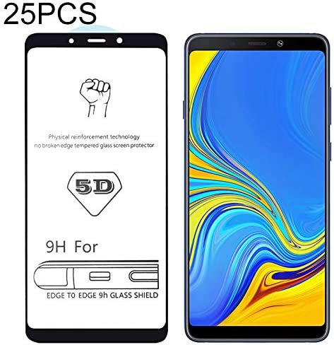 Glass Film Screen Protector Protective 25 PCS 9H 5D Full Glue Full Screen Tempered Glass Film for Galaxy A9 2018