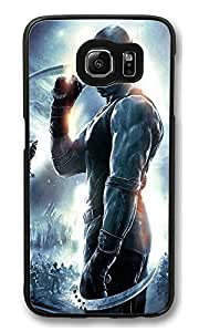 S6 Case, The Chronicles Of Riddick Vin Diesel Ideas Ultra Fit Black Bumper Shockproof Case For Galaxy S6 Customizable Hard PC Samsung Galaxy S6