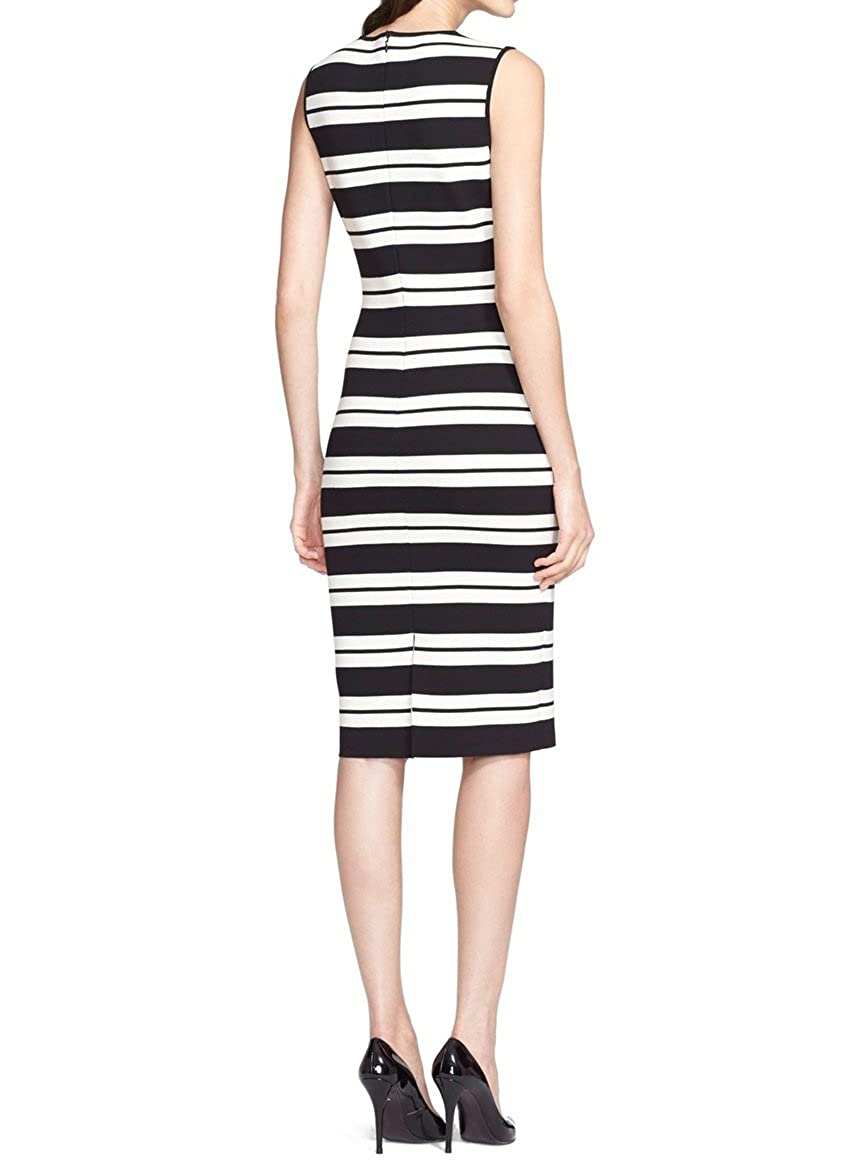 5a7a6ceb Amazon.com: St. John Collection Women's Stripe Luxe Sculpture Knit Sheath  Dress, Size 10: Clothing