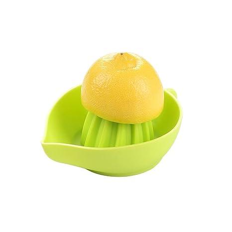 Exprimidor de Cocina Manual de Naranjas, Limones y Cítricos para Zumos Fabricado en Silicona de Grado Alimentario libre de toxinas, bordes ...