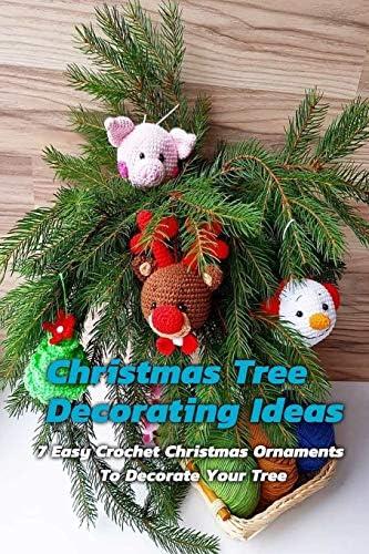 HANDMADE CROCHET XMAS TREE ORNAMENT DECORATION