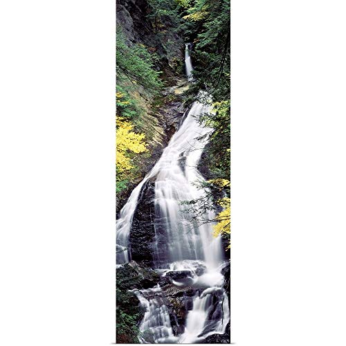 GREATBIGCANVAS Poster Print Vermont, Stowe, CC Putnam State Forest, Moss Glen Falls, Waterfall in The Forest by 20