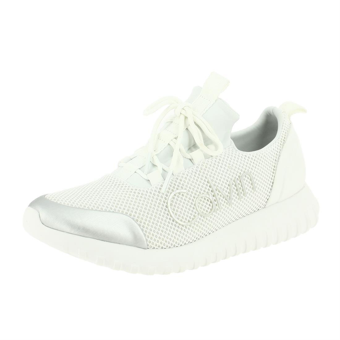 7c887bb81b Calvin Klein Ron White Silver S0506WHITESILVER, Trainers - 40 EU:  Amazon.co.uk: Shoes & Bags