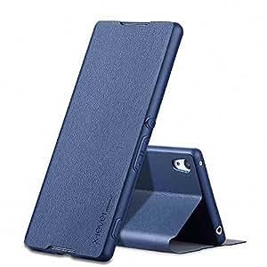 Bester Sony Xperia XA Libre de contaminación PU Cuero PC Difícil Shell Super Slim Perfect Fit Premium Hard Protettiva Custodia per Sony Xperia XA (Sony Xperia XA, azul)