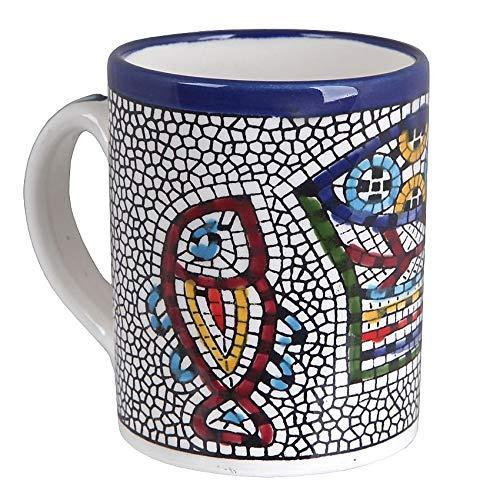 Ceramic Mug Armenian Design Fish Jerusalem