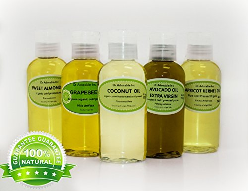 5 Variety Set Carrier Oils