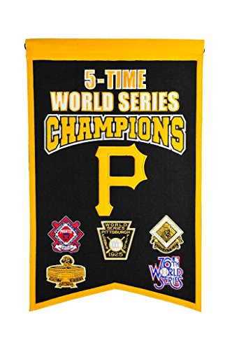 MLB Pittsburgh Pirates 5 Time WS Champions Banner, One - World Series Pirates Champions Pittsburgh