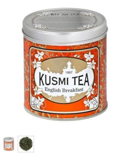 Kusmi Tea Paris - Premium Luxury Teas - English Breakfast Tea - 8.8oz / 250gr Tin Kusmi English Breakfast