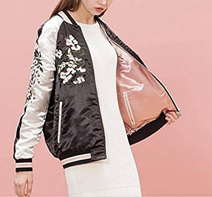 Amazon.com : 2016 Sale Abrigos Mujer Xn8107-100 Europe Station In The Spring Of New Womens Wear Embroidered Jacket On Both Sides 0313 Size:L : Everything ...