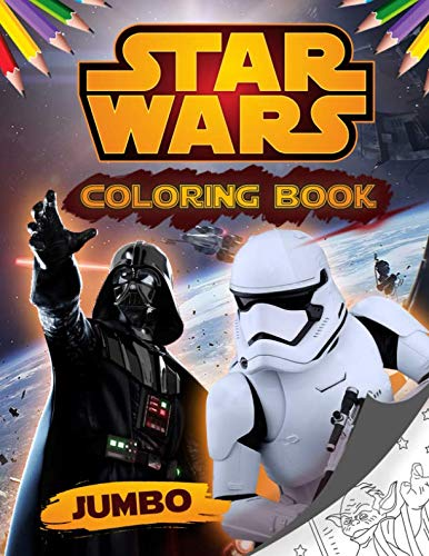 Star Wars Coloring Book: Jumbo Star Wars Coloring Book For Kids ages 4-8 With High Quality Images]()