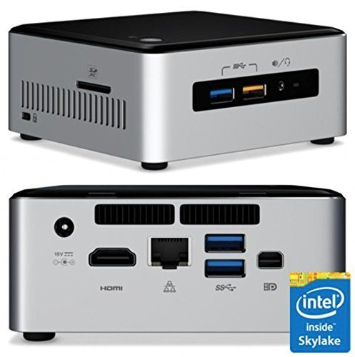 Intel Desktop/HTPC 6th Generation Intel Dual-Core i3 2.3GHz, 16GB DDR4, 240GB SSD, Wifi, Bluetooth, 4K Capable, Dual Monitor Capable, Windows 10 Professional 64Bit