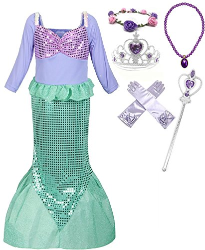 Fairytale Dresses For Kids (Fairytale Princess Boutique Little Girls Mermaid Princess Dress Costume (4-5, Style 2))