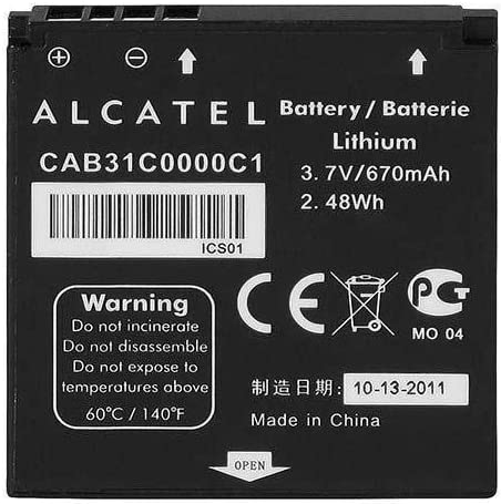 GSParts New Replacement CAB31C0000C1 Battery for Alcatel OneTouch OT-606 606A 606C S210 S211 T-Mobile Sparq