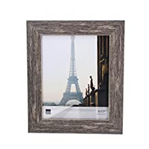 Kiera Grace Emery Picture Frame, 8 by 10 Inch, Weathered Grey Reclaimed Wood Finish