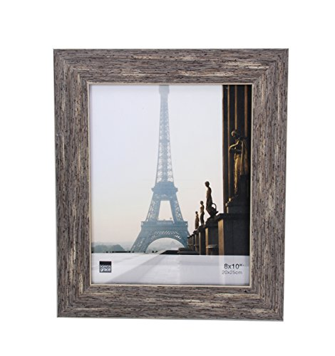 Distressed Wood Frame (Kiera Grace Emery Picture Frame, 8 by 10 Inch, Weathered Grey Reclaimed Wood Finish)