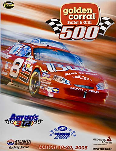 2005 - NASCAR/Nextel Cup Series - Atlanta Motor Speedway - Golden Corral 500 - Official Program - Rare - Collectible