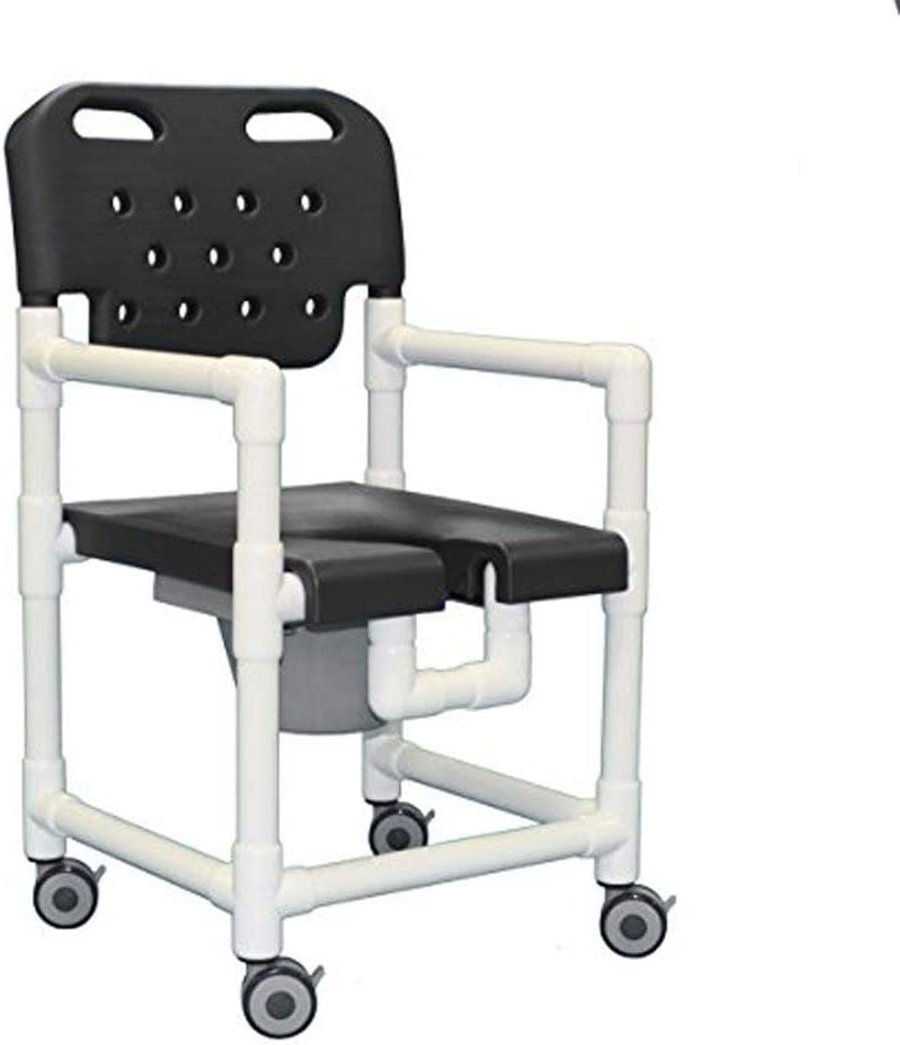 IPU ELT820 P Elite Rolling Shower Commode Chair for use over Toilet, Bedside, and in the Shower 51IcXpzXecLSL1000_