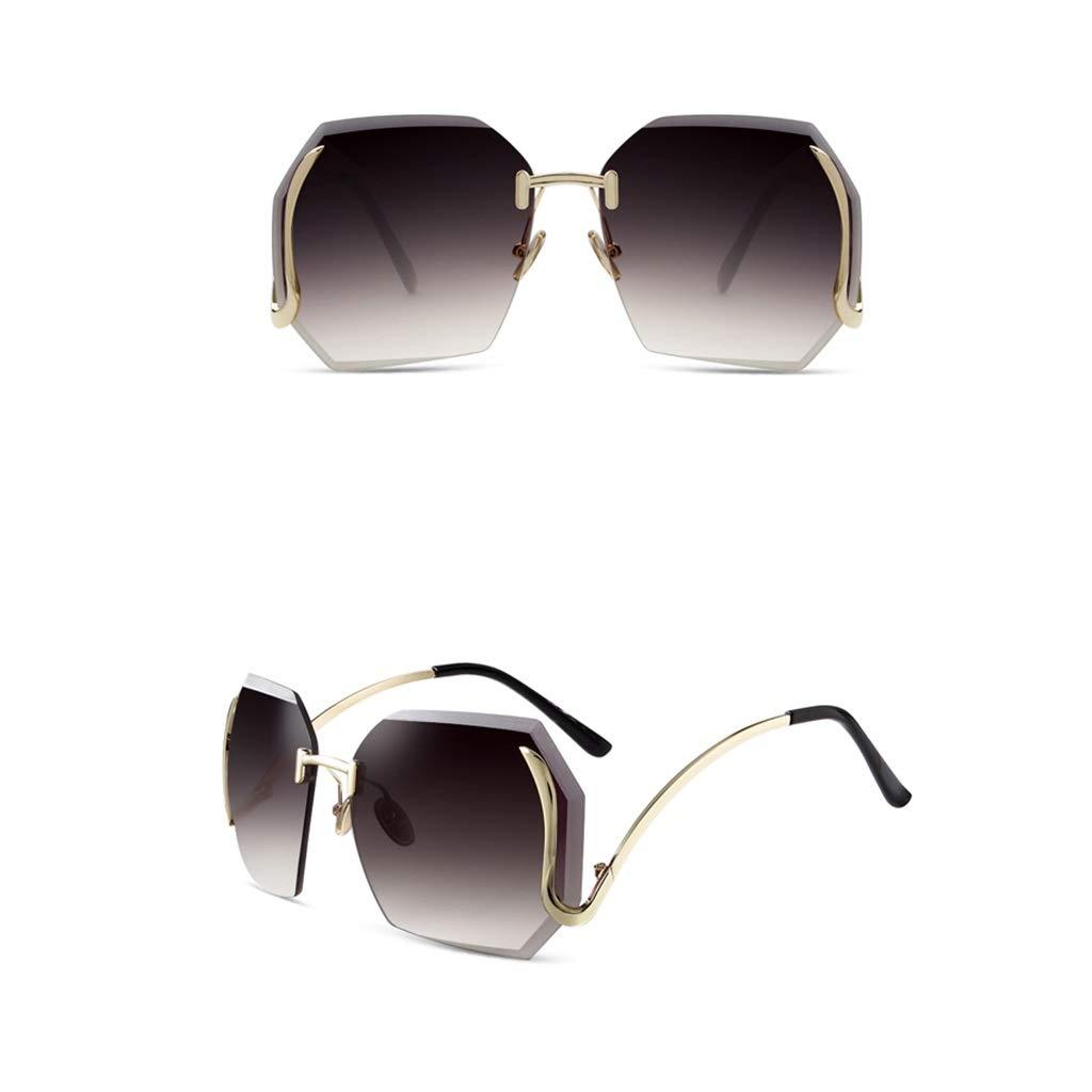 A LJBOZ Frameless Sunglasses Sunshade UV Square Sunglasses Women's Multicolor Optional Sunglasses (color   A)