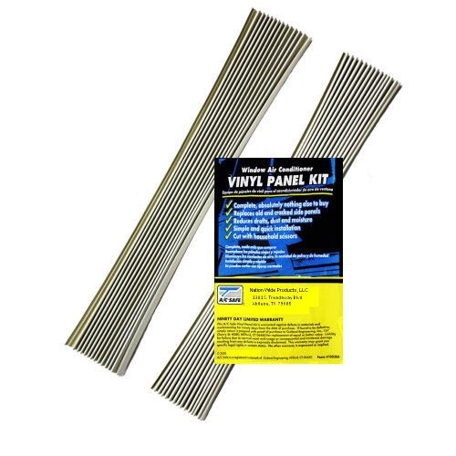 Air Conditioning Window Unit Replacement Vinyl Accordian Side Panel Kit - Vinyl Replacement