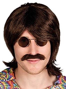 DISBACANAL Peluca Hippie con Bigote