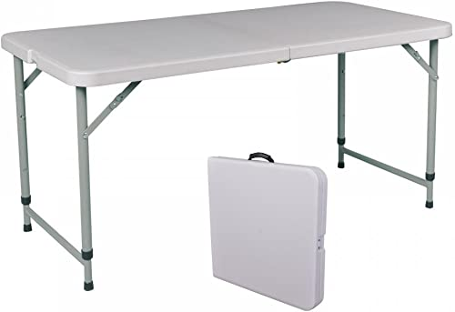 Portable 4 Adjustable Folding Utility Table Camping Picnic Outdoor Yard A429