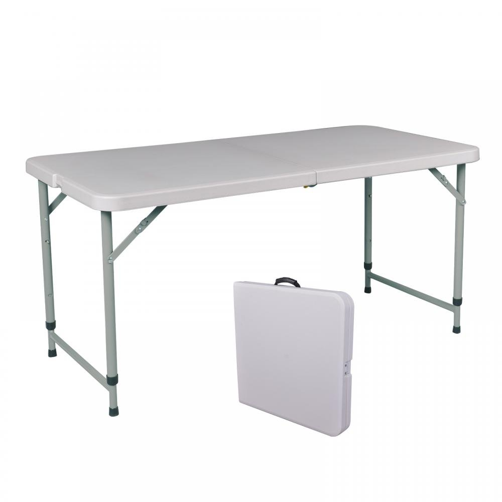 Portable 4' Adjustable Folding Utility Table Camping Picnic Outdoor Yard A429