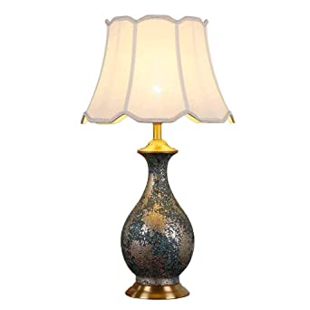 La simplicidad moderna Lámpara de cerámica de mesa, E27 retro ...