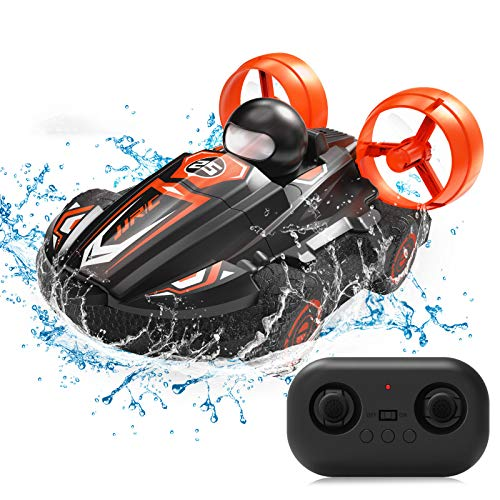 JJRC RC Stunt Car Water Land 2 in 1 Car Boat Waterproof Remote Control RC Vehicles 2.4Ghz 4WD Double Sided Hobby RC Car 360° Spins & Flips RC Truck